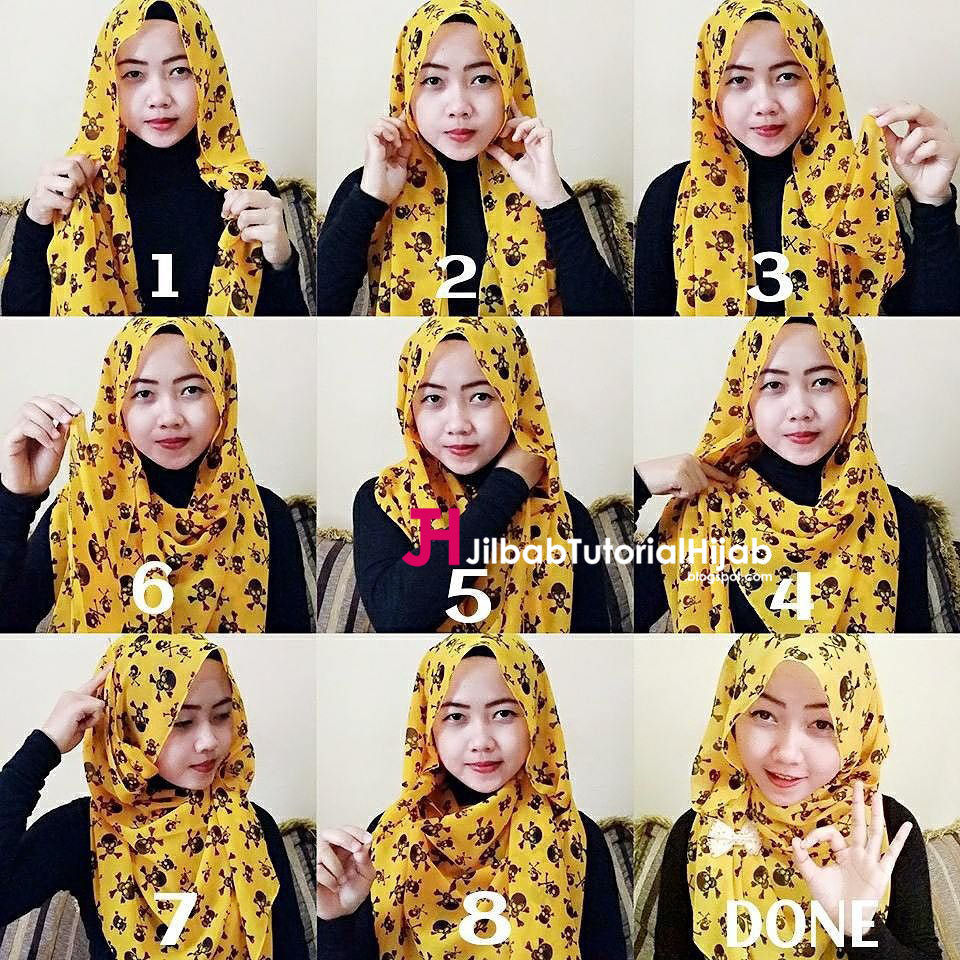 Cara Memakai Jilbab Sederhana Sehari Hari Tutorial Hijab