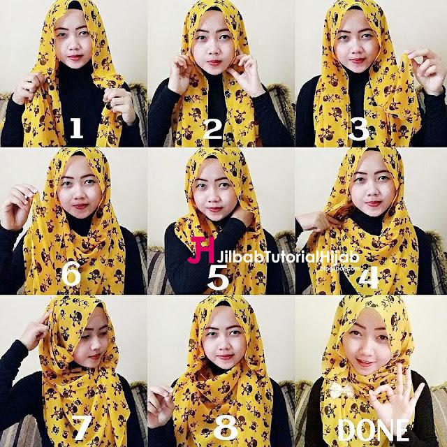 tutorial cara menggunakan jilbab sederhana untuk sehari Cara Memakai Jilbab Sederhana Sehari-hari