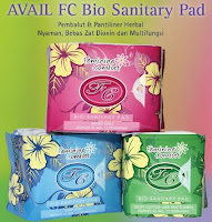 Pembalut Avail Bio Sanitary Pad Pantyliner (hijau) Day Use ( Biru ) Night Use ( Merah )