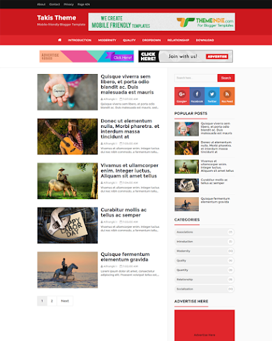 Takis - High CTR, SEO Friendly and Responsive Blogger Template