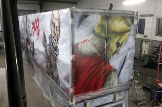 Malowanie tira, aerografia samochodowa, malowanie samochodów ciężarowych, motocykli, kasków, airbrush truck
