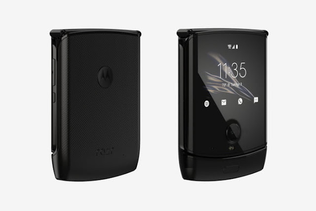 Previous photos of the Motorola Razr folding phone confirmed its design.