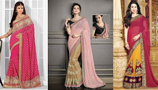 Best Linen Sarees Blouse Designs