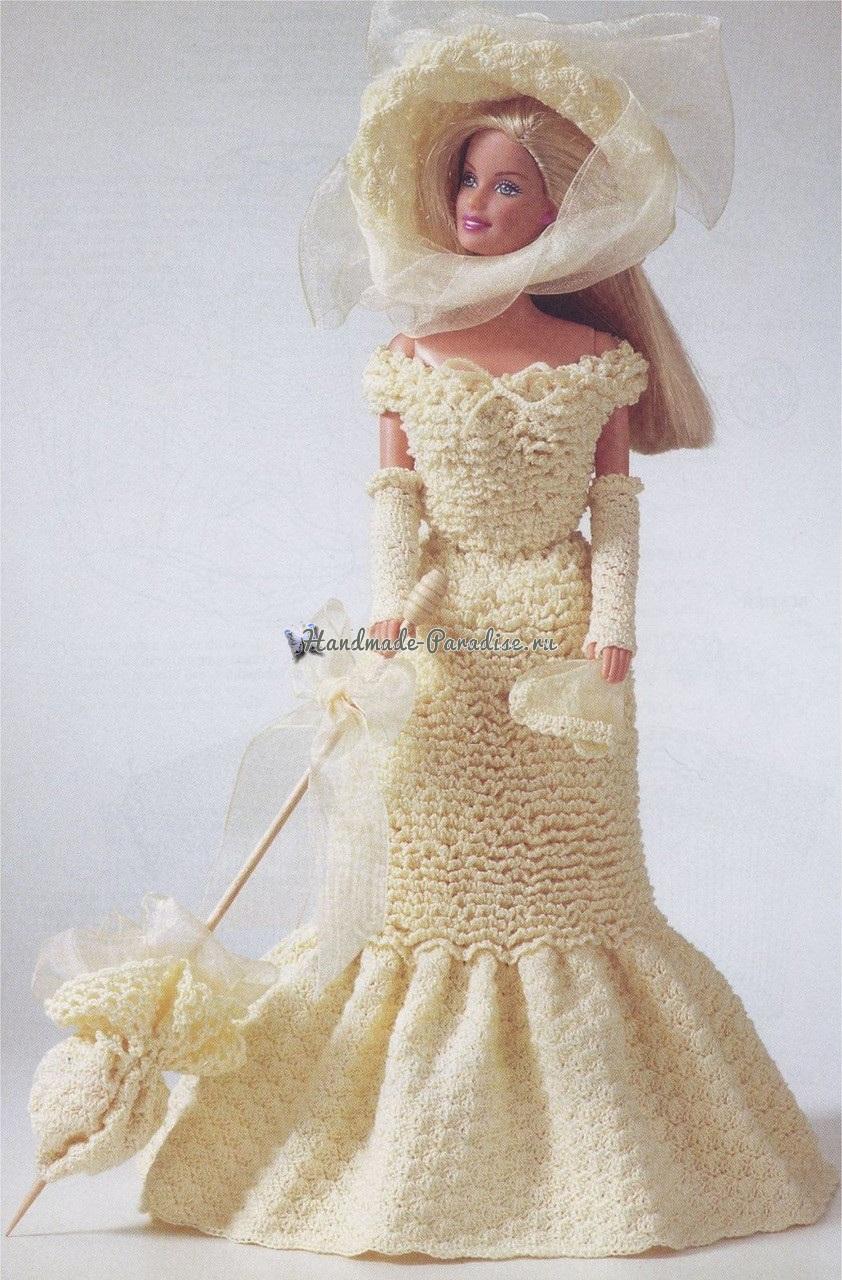 Вязаные платья для кукол. Журнал со схемами