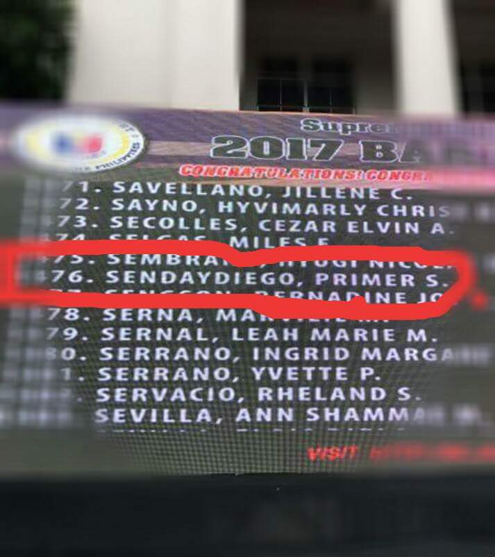 Sendaydiego traveled from Dagupan City to see his name on screen