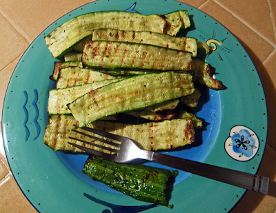 Plate of grilled zucchini