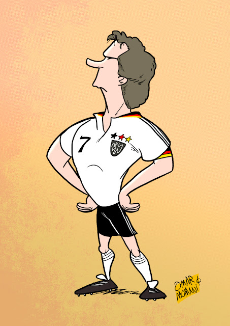 Andreas Möller cartoon caricature