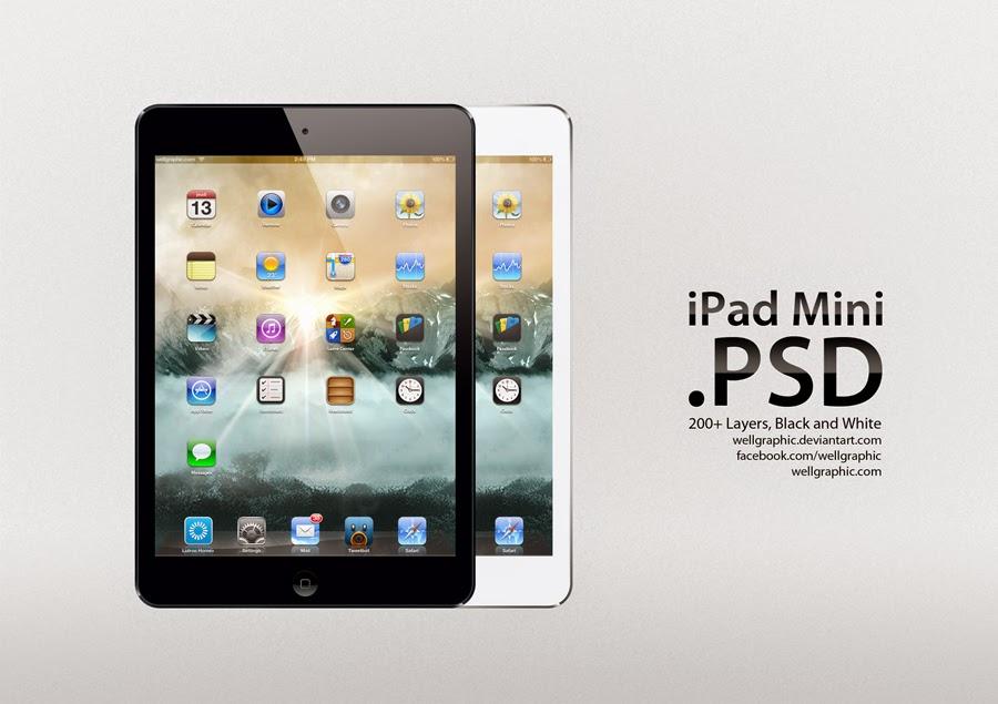 Apple iPad Mini PSD Mockup