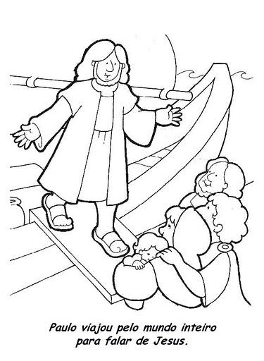 Desenhos Para Colorir Batismo De Jesus