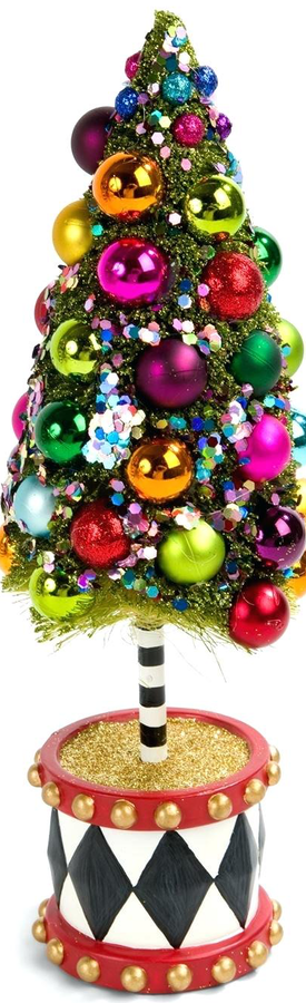 MACKENZIE-CHILDS NUTCRACKER BOTTLE BRUSH TREE SMALL