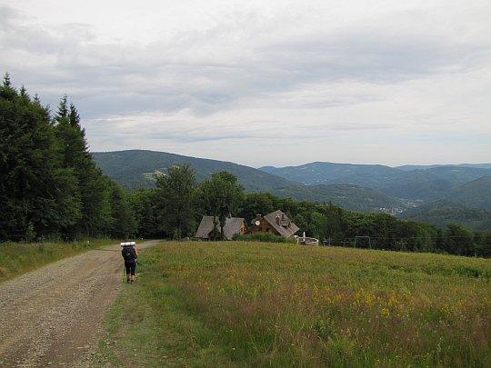 Soszów Wielki (czes. Velký Šošov; 886 m n.p.m.) - zejście ze szczytu.