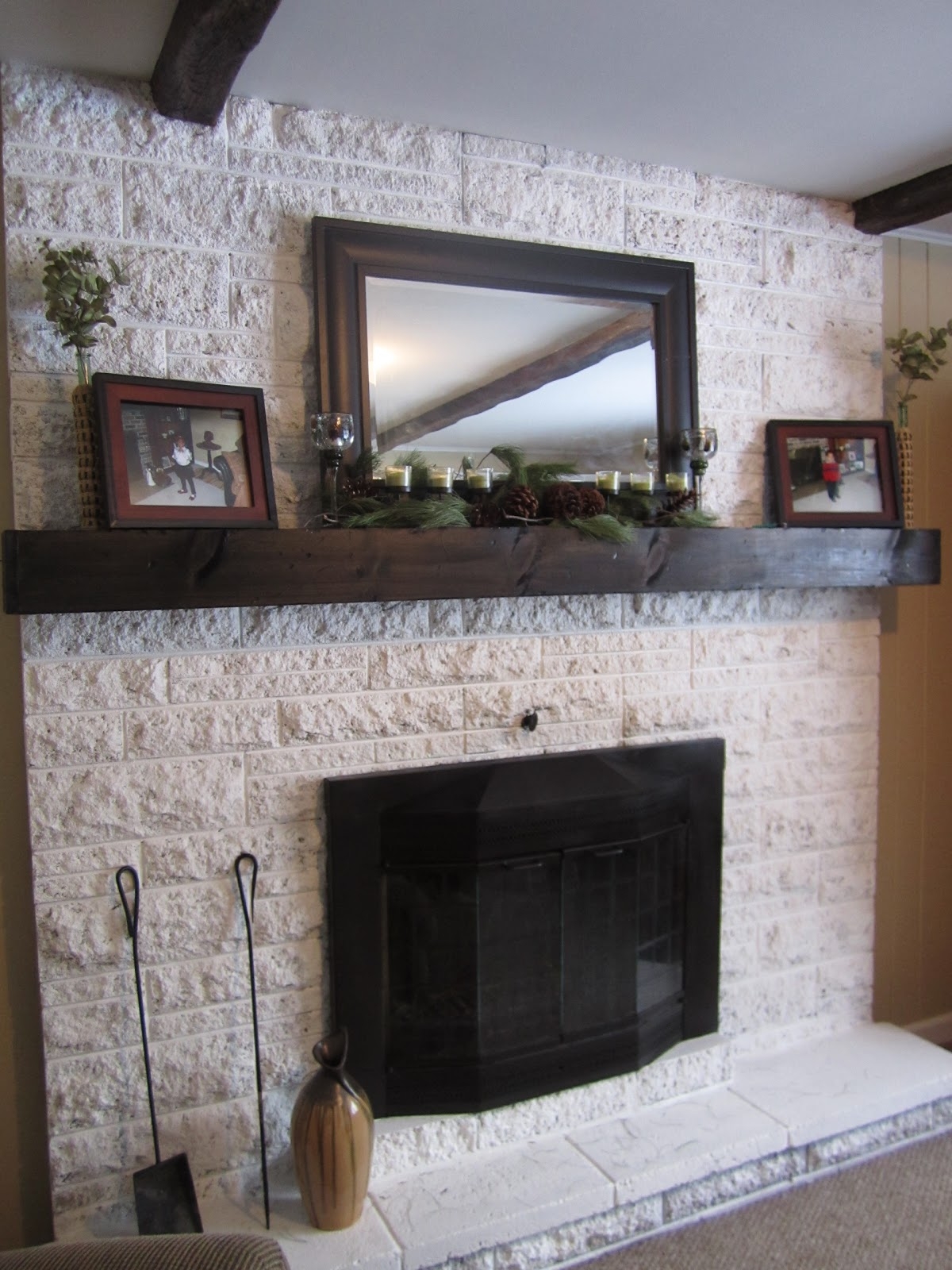 The Making Of A Slip Covered Mantel Made By Carli