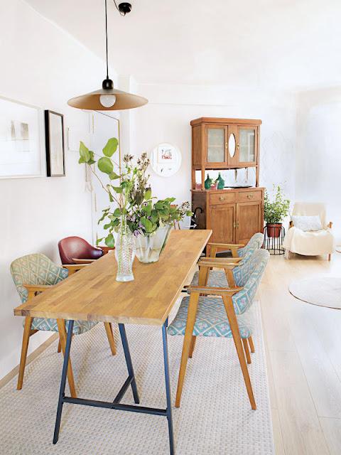 Apartamento moderno e vintage decora o e ideias for Comedor redondo vintage