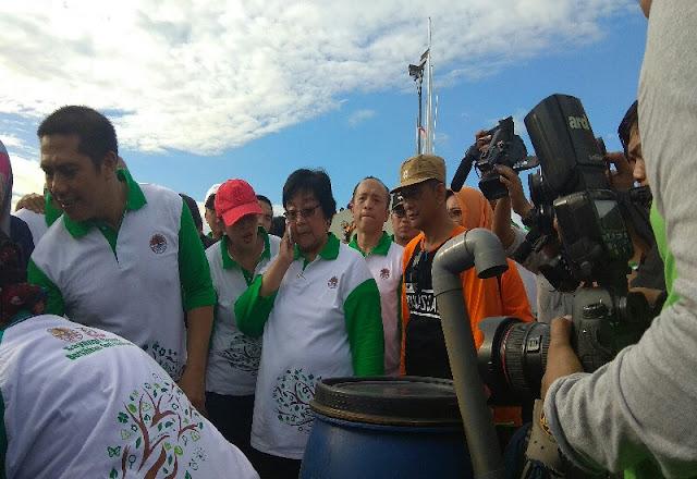 Menteri LHK Peringati HPSN di Area Car Free Day Kota Makassar