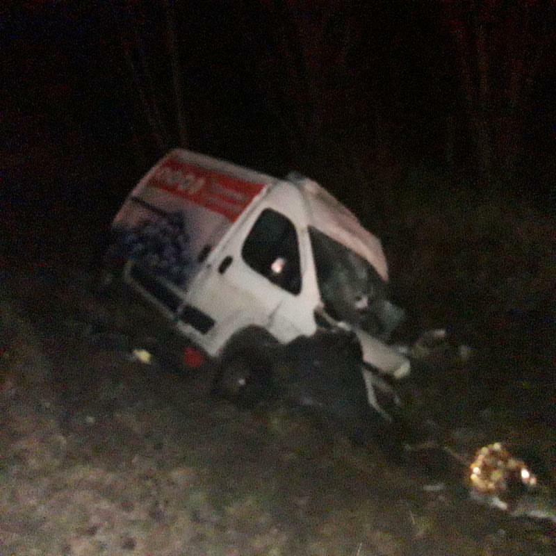 Avārijā cietušais mikroautobuss