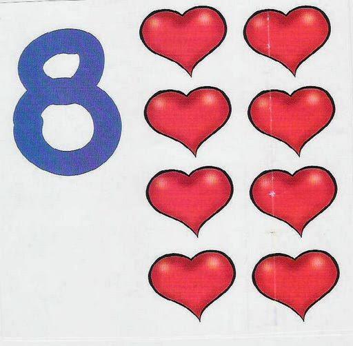 cartaz de números e quantidades