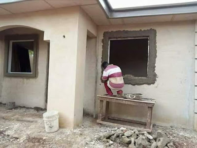 Photos: Heartwarming! Old homeless widow gifted with brand new bungalow in Abia State