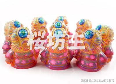 Bōzu Sakura Edition Vinyl Figure by Candie Bolton x Planet 3 Toys