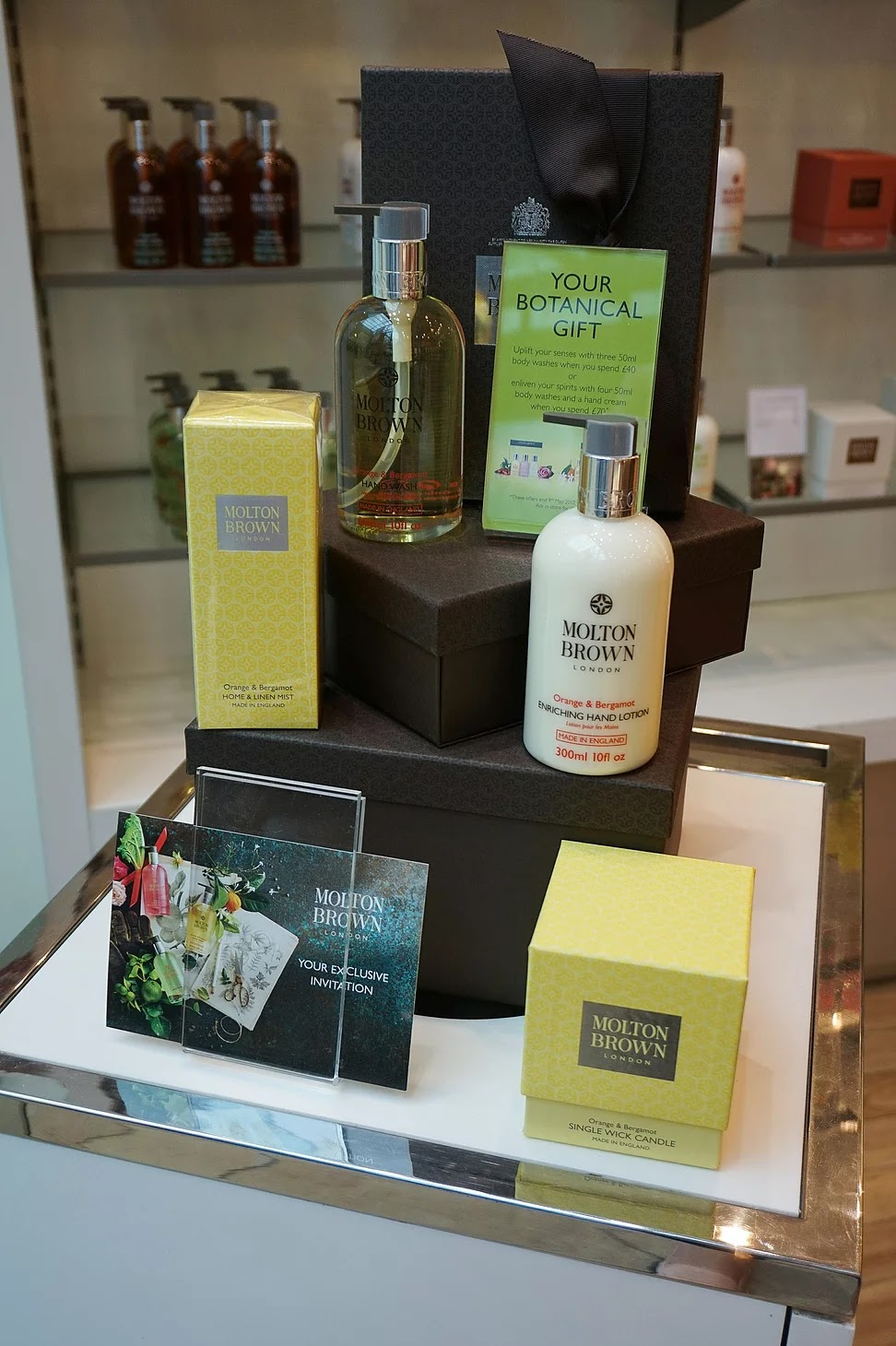Molton Brown botany in bloom store setup