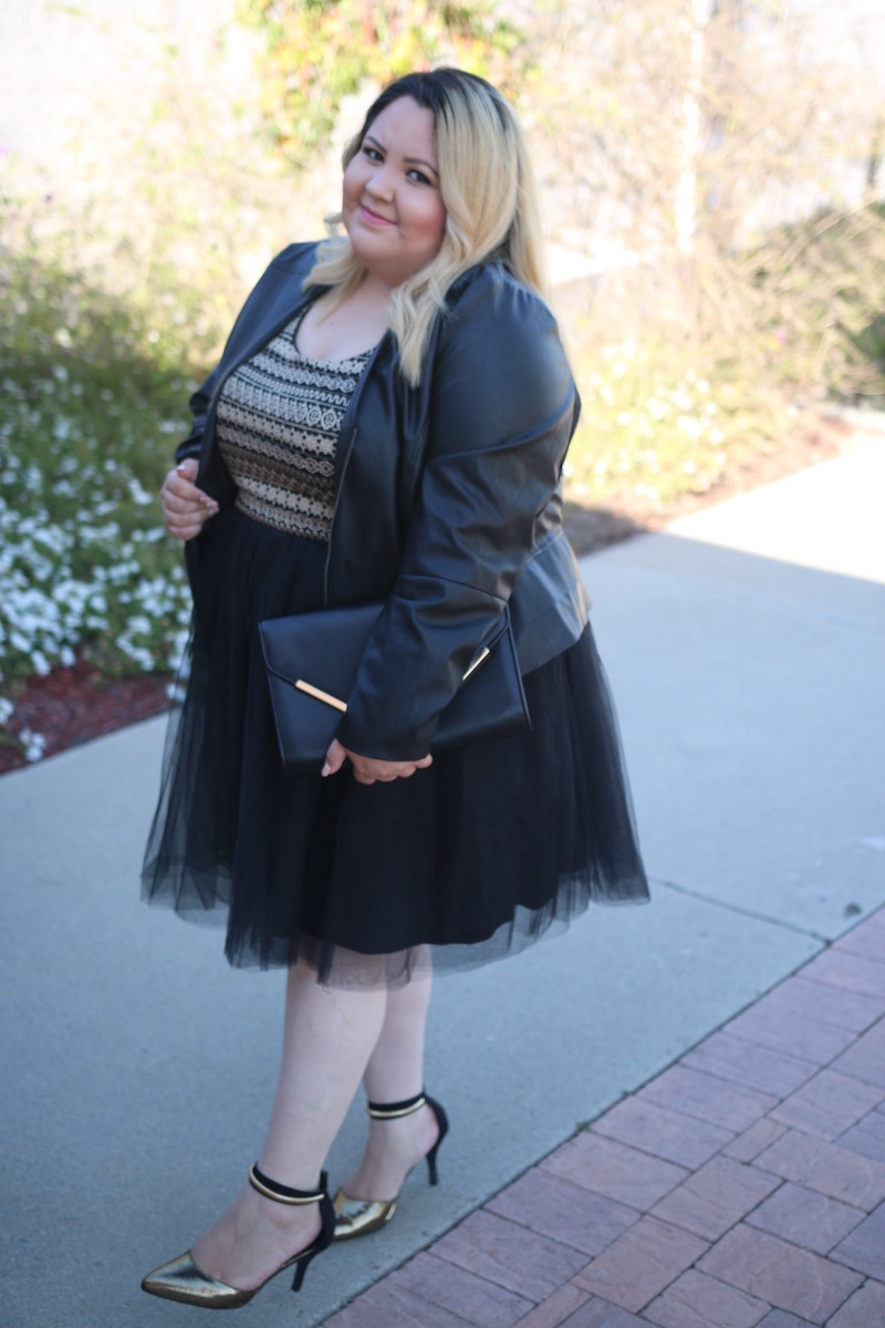 Tulle Dress in Plus Size