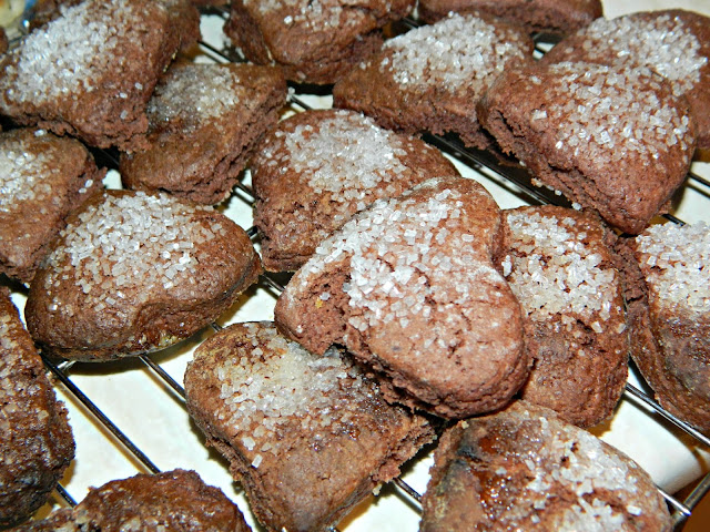 Valentine's Heart Shaped Chocolate Cookies Biscuits