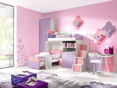 Memiliki anak wanita tentu sangat menyenangkan 60 Desain Lucu Kamar Tidur Anak Perempuan