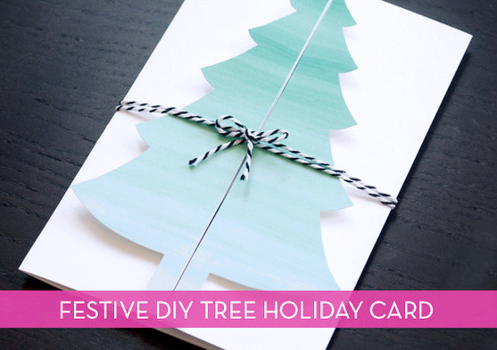 Handmade Christmas Card With Beautiful tree