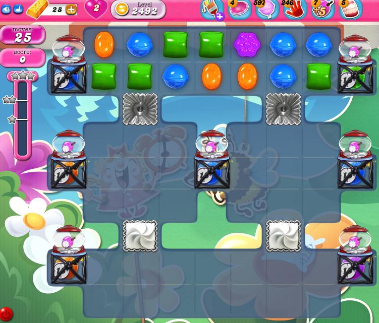 Candy Crush Saga level 2492