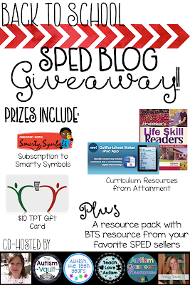 Enter the Back to School SPED Giveaway!