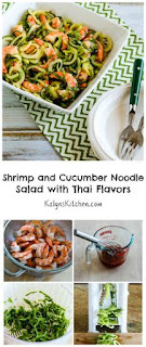Shrimp and Cucumber Noodle Salad with Thai Flavors [from KalynsKitchen.com]