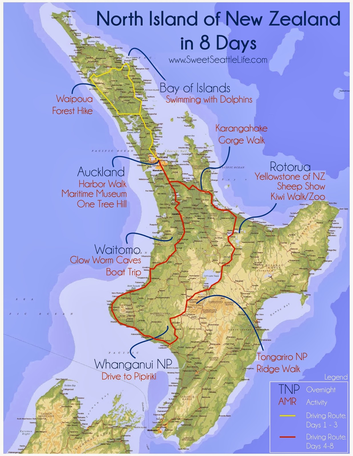 New Zealand Route Map.Chris And Sonja The Sweet Seattle Life Trips New Zealand Route