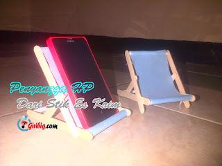 Cara membuat pemegang/penyangga smartphone dari stik es krim | Dudukan Handphone (HP) Part2