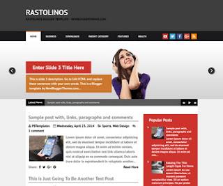 Rastolinos Blogger Template