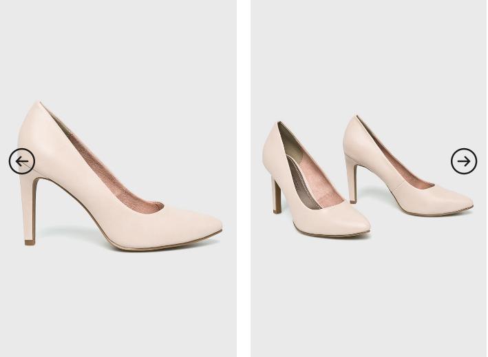Marco Tozzi - Pantofi cu toc de ocazii roz pastelat eleganti