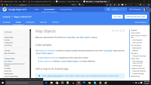 Getting google maps android api key