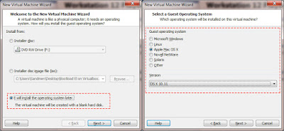 Create a virual machine on vmware