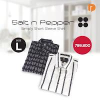 Dusdusan Salt N Pepper Simply Short Sleeve Shirt Size L (Set of 2) ANDHIMIND