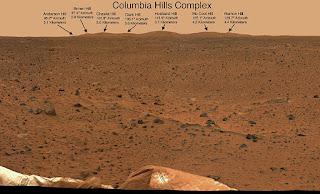 columbia hills on Mars named kalpana chawala