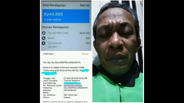 """Tukang Ojek yang Bantu """"Galang Perjuangan"""" Disertai Linang Air Mata Direspon Langsung Oleh Prabowo"""