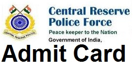 CRPF Admit Card 2016 crpfindia.com Constable & ASI Hall Ticket