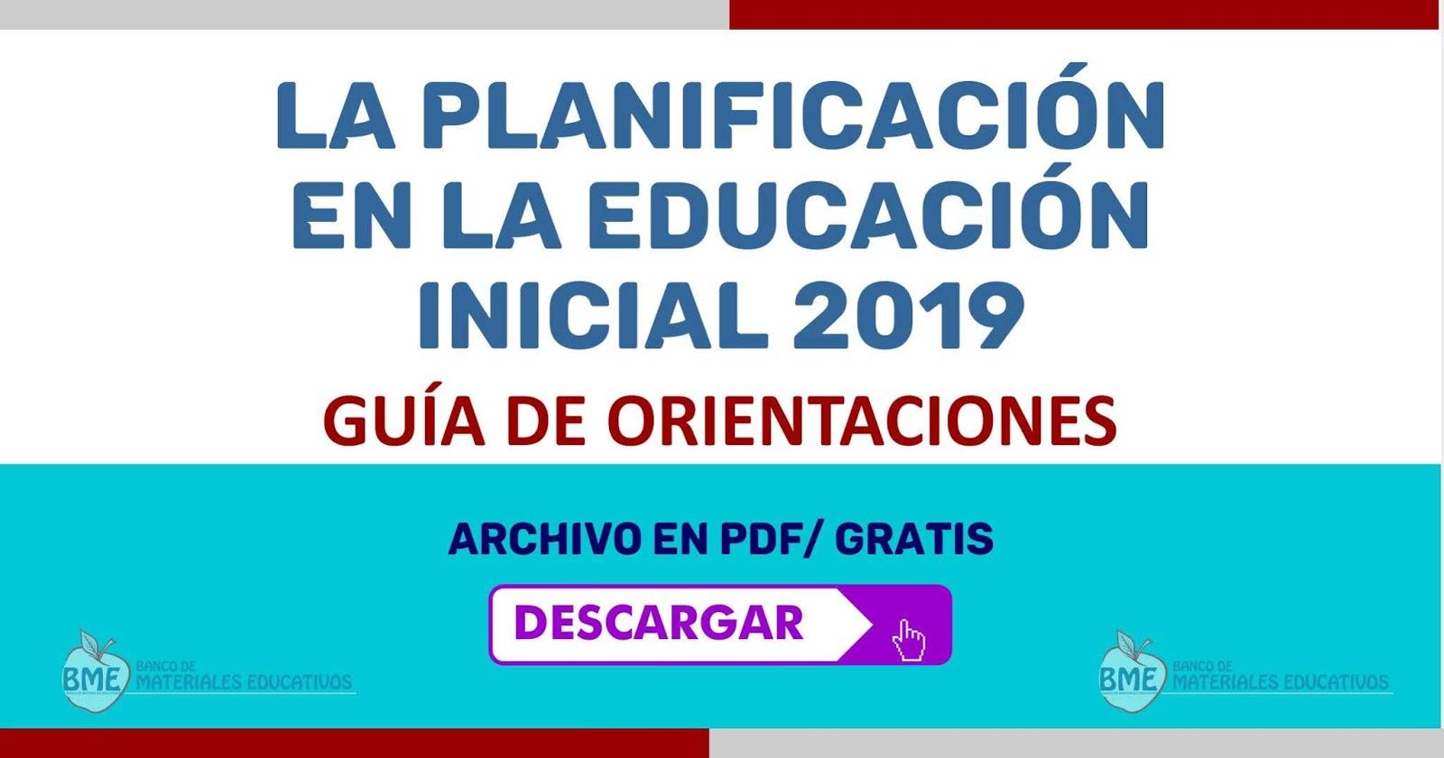 La planificaci n en la educaci n inicial 2019 banco de for Planificacion de educacion inicial