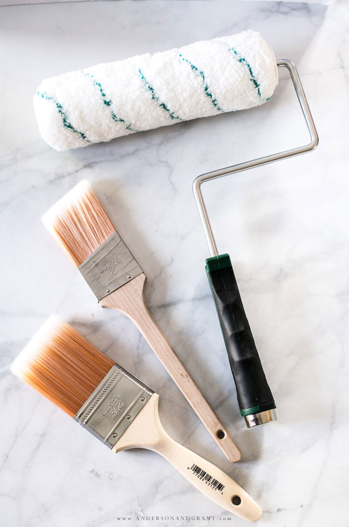 Paint brushes and roller