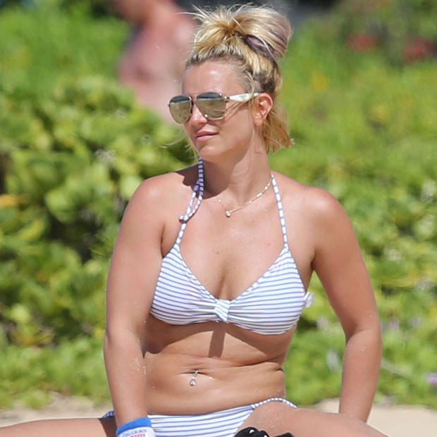 Britney Spears on the beach in bikini