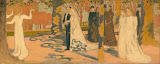 Wedding Procession by Maurice Denis - Genre Paintings from Hermitage Museum