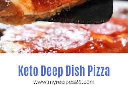 Keto Deep Dish Pizza