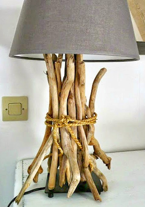 Ikea Table Lamp Hack with Driftwood