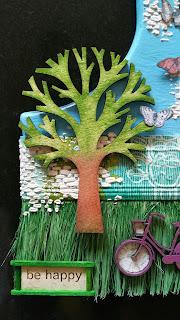 Detalle de uno de los árboles
