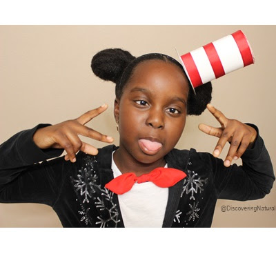 Dr Seuss Cat In The Hat Headband DIY | World Book Day #DrSeussDay DiscoveringNatural