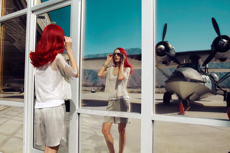 Angelika Kocheva Model Fashion Photoshoot At Airport