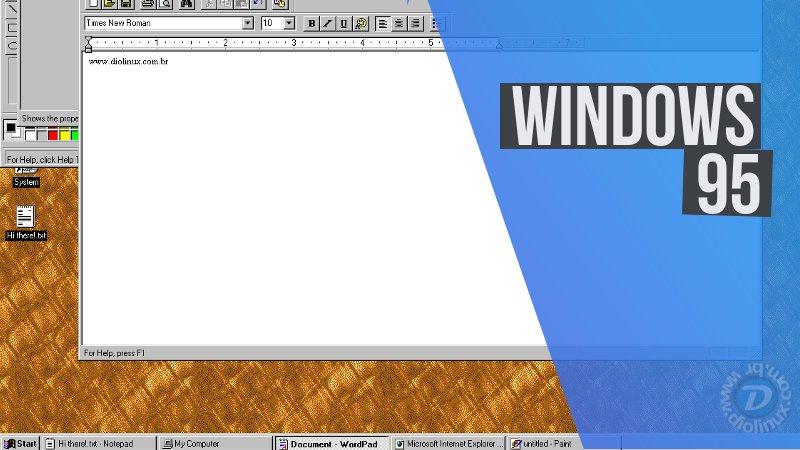 Agora você pode usar o Windows 95 como um App dentro do